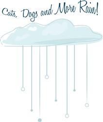 Cats Dogs Rain print art