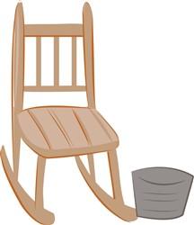Rocking Chair print art