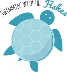 Swimming Turtle print art