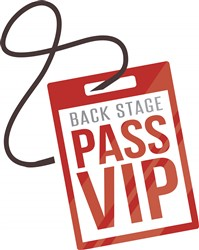 Back Stage Pass print art