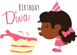 Birthday Diva print art