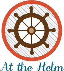 At The Helm print art