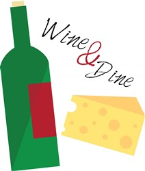 Wine And Dine print art