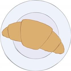 Croissant print art