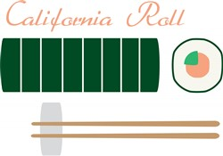 California Roll print art