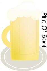 Pint o Beer print art