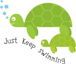 Keep Swimming print art