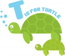 T for Turtle print art