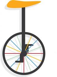 Unicycle print art