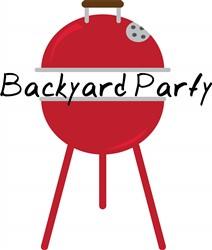 Backyard Party print art