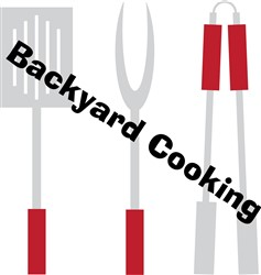 Backyard Cooking print art