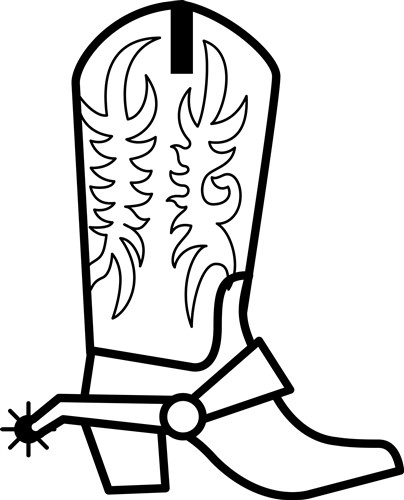 Western Boot Outline Print Art Outlines Print Art At