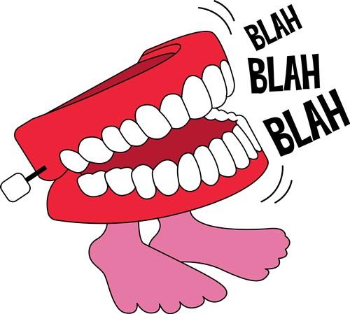Chatter Teeth Blah print art Humorous print art at ...