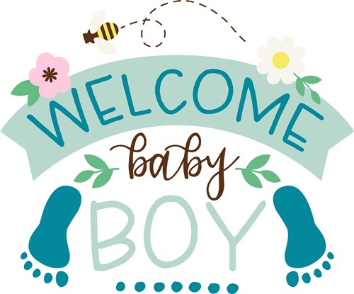 Welcome Baby Boy Print Art Bugs Print Art At Embroiderydesigns Com