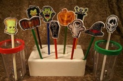 Halloween Pencil and Straw Toppers