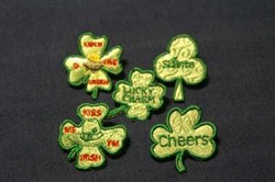 Shamrock Earrings With Matching Pins