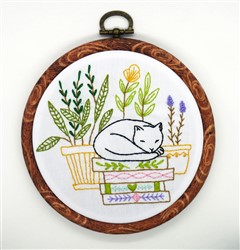 Cat and Indoor Plants PDF Pattern
