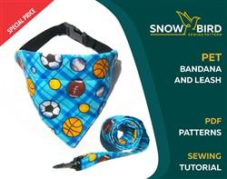 Pet Bandana and Leash Sewing Pattern