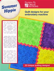 Summer Hippie Embroidery Quilting