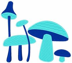 Blue Mushrooms embroidery design