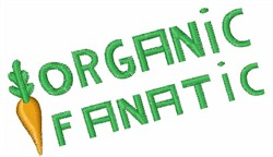 Organic Fanatic Carrot embroidery design