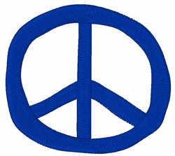 Blue Peace Symbol embroidery design