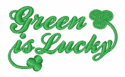 Green Is Lucky embroidery design