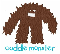 Cuddle Monster embroidery design