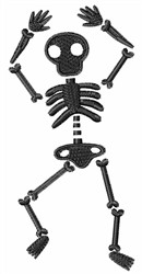 Black Skeleton embroidery design