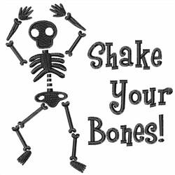 Shake Your Bones embroidery design