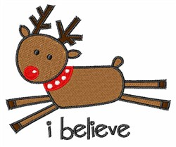 Rudolph I Believe embroidery design