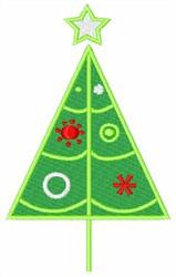 Retro Christmas Tree embroidery design