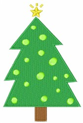 Christmas Tree And Star embroidery design
