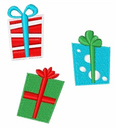 Wrapped Presents embroidery design