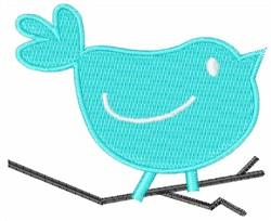 Blue Bird On Branch embroidery design