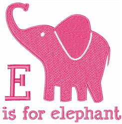 E Is For Elephant embroidery design
