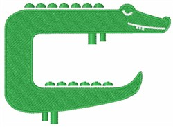 Green Crocodile embroidery design