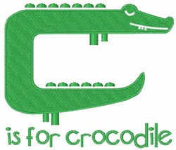 C Is For Crocodile embroidery design