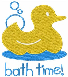 Ducky Bath Time embroidery design
