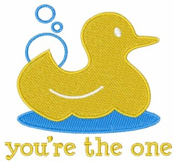 Ducky Youre The One embroidery design