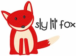 Sly Lil Fox embroidery design