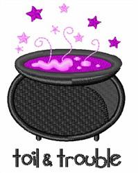 Toil & Trouble Cauldron embroidery design