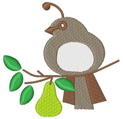Partridge In Pear Tree embroidery design