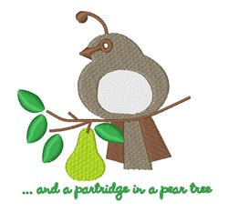 A Partridge embroidery design