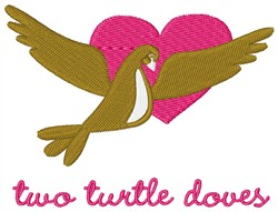 Christmas Turtle Doves embroidery design