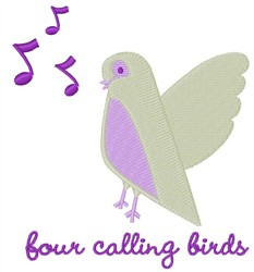Calling Birds embroidery design