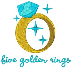 Golden Rings embroidery design