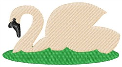 Swans-A-Swimming embroidery design