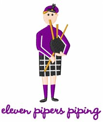 Pipers Piping embroidery design