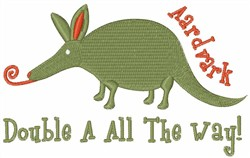 Aardvark Double A embroidery design